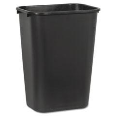 Picture of Soft-Sided Wastebasket, 41 qt, Plastic, Black