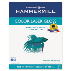Picture of Color Laser Gloss Paper, 94 Brightness, 32lb, 8-1/2 x 11, White, 300 Sheets/Pack