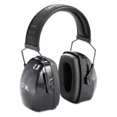 Picture of Leightning L3 Noise-Blocking Earmuffs, 30NRR, Black/Gray