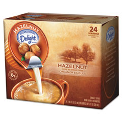 Picture of Coffee Creamer, Hazelnut, 0.4375 oz Liquid, 24/Box