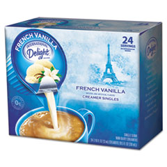 Picture of Flavored Liquid Non-Dairy Coffee Creamer, French Vanilla, 0.4375 oz Cup, 24/Box