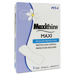Picture of Maxithins Sanitary Napkins #4, 250 Individually Boxed Napkins/Carton