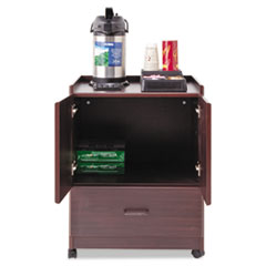 Picture of Mobile Deluxe Coffee Bar, 23w x 19d x 30-3/4h, Mahogany