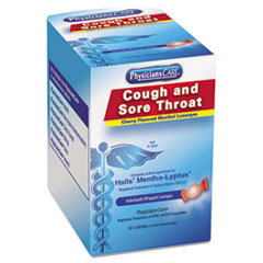 Picture of Cough and Sore Throat, Cherry Menthol Lozenges, 50 Individually Wrapped per Box
