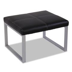 Picture of Alera Ispara Series Cube Ottoman, 26-3/8 x 22-5/8 x 17-3/8, Black/Silver