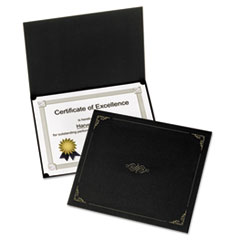 Picture of Certificate Holder, 11 1/4 x 8 3/4, Black, 5/Pack