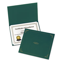 Picture of Certificate Holder, 11 1/4 x 8 3/4, Green, 5/Pack