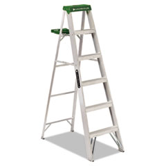 Picture of #428 Folding Aluminum Step Ladder, 6 ft, 5-Step, Green