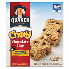 Picture of Granola Bars, Chewy Chocolate Chip, .84 oz Bar, 8/Box