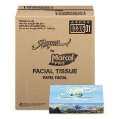Picture of 100% Recycled Convenience Pack Facial Tissue, White, 144 Sheets/Box