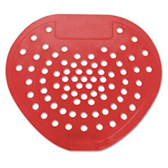 "Picture of Urinal Screen, 7 3/4""w x 6 7/8""h, Red, Cherry, Dozen"