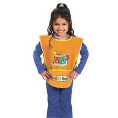 Picture of Kraft Artist Smock, Fits Kids Ages 3-8, Vinyl, One Size Fits All, Bright Colors