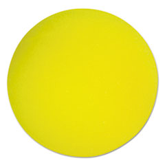 "Picture of Uncoated Regular-Density Foam Balls, 4"" Diameter, Yellow"