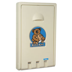 Picture of Standard Recessed Vertical Baby Changing Station, Cream