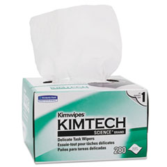 Picture of KIMWIPES, Delicate Task Wipers, 1-Ply, 4 2/5 x 8 2/5, 280/Box