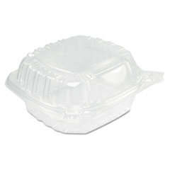 Picture of ClearSeal Hinged Clear Containers, 13 4/5 oz, Clear, Plastic, 5.4 x 5.3 x 2.6
