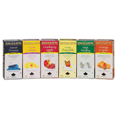Picture of Assorted Tea Packs, Six Flavors, 28/Box, 168/Carton