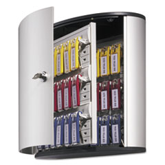 Picture of Locking Key Cabinet, 36-Key, Brushed Aluminum, Silver, 11 3/4 x 4 5/8 x 11