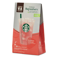 Picture of VIA Refreshers, Strawberry Lemonade, 4.16 oz Pack, 6/Box