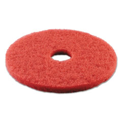 """Picture of Standard Buffing Floor Pads, 14"""" Diameter, Red, 5/Carton"""