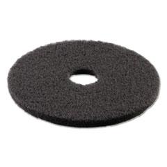 "Picture of Standard Stripping Floor Pads, 16"" Diameter, Black, 5/Carton"