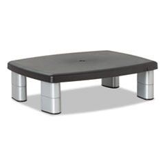 Picture of Adjustable Height Monitor Stand, 15 x 12 x 2 5/8 to 5 7/8, Black/Silver
