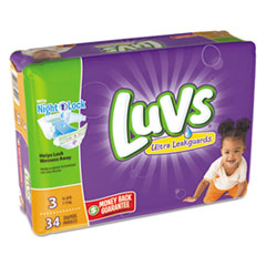 Picture of Diapers, Size 3: 16 to 28 lbs, 34/Pack, 4 Pack/Carton