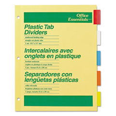Picture of Plastic Insertable Dividers, 5-Tab, Letter