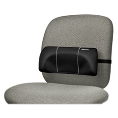 """Picture of Lumbar Back Support, 12""""W x 3.125""""D x 5.187""""H, Black"""