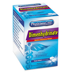 Picture of Dimenhydrinate (Motion Sickness) Tablets, 2/Pack, 50 Pack/Box