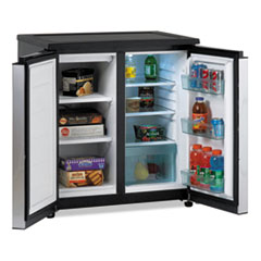 Picture of 5.5 CF Side by Side Refrigerator/Freezer, Black/Stainless Steel