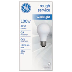 Picture of Rough Service Incandescent Worklight Bulb, A21, 100 W, 1230 lm