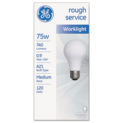 Picture of Rough Service Incandescent Worklight Bulb, A21, 75 W, 1230 lm
