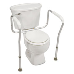 Picture of Toilet Safety Arm Support with BactiX Antimicrobial, White, 250 lb Capacity