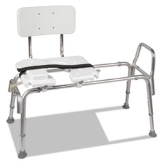 """Picture of Heavy-Duty Sliding Transfer Bench with Cut-Out Seat, 19-23""""H, 15 x 19 Seat"""