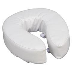 "Picture of Vinyl Cushion Toilet Seat, 4"" Riser, White"