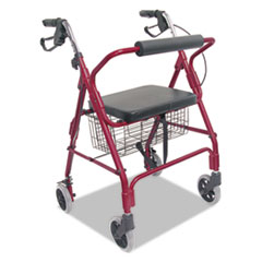 Picture of Ultra Lightweight Rollator, Burgundy, Aluminum, Adjustable