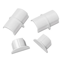 Picture of Smooth Fit Connector and End Cap Pack, White, 2 Connectors, 2 Endcaps per Pack