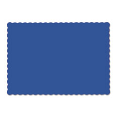 Picture of Solid Color Scalloped Edge Placemats, 9 1/2 x 13 1/2, Navy Blue, 1000/Carton