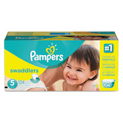 Picture of Swaddlers Diapers, Size 5: 27 - 34 lbs, 104/Carton