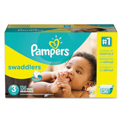 Picture of Swaddlers Diapers, Size 3: 16 - 28 lbs, 136/Carton