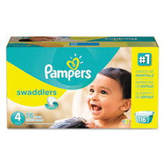 Picture of Swaddlers Diapers, Size 4: 22 - 37 lbs, 116/Carton