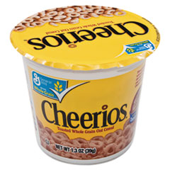 Picture of Cheerios Breakfast Cereal, Single-Serve 1.3oz Cup, 6/Pack