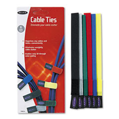 Picture of Multicolored Cable Ties, 6/Pack