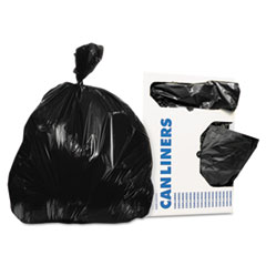 Picture of Low-Density Can Liners, 12-16 gal, 0.35 mil, 24 x 32, Black, 1000/Carton