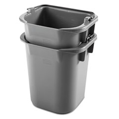 Picture of Executive Heavy-Duty Pail, Gray, Plastic, 9 3/10W x 7 1/2D x 8 1/2H