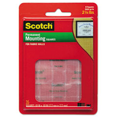"Picture of Permanent Heavy-Duty Mounting Squares for Fabric Walls, 7/10"" x 17/25"", 24/Pack"