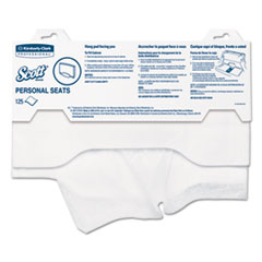 """Picture of Personal Seats Sanitary Toilet Seat Covers, 15"""" x 18"""", 125/Pack"""