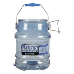 Picture of Saf-T-Ice Tote, 5gal, Transparent Blue
