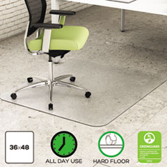 Picture of EnvironMat Recycled Anytime Use Chair Mat for Hard Floor, 36 x 48, Clear
